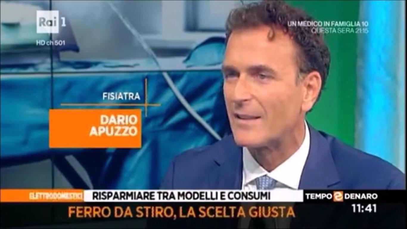 Il Prof.Apuzzo ospite di Elisa Isoardi a Tempo&Denaro su Rai Uno del 13.10.2016