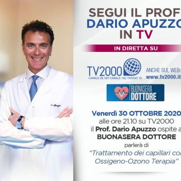 SEGUI IL PROF. DARIO APUZZO IN TV 30.10.2020 TV2000